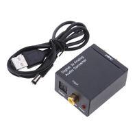 Convertitore audio digitale coassiale da Toslink a analogico (L / R) +