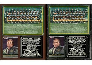 1967 Super Bowl II Green Bay Packers Photo Card Plaque