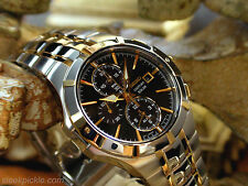 Seiko SSC198 Coutura Solar Chronograph Gold Plated Stainless Steel Men's Watch