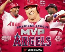 Mike Trout LA Angels MVP Blanket (w/Vlad Guerrero and Don Baylor) SGA 4-24-15