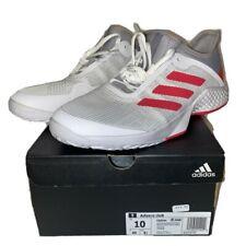 ADIDAS Adizero Club White Gray Pink Tennis Shoes Men's Size 10 CG6344 MSRP $80