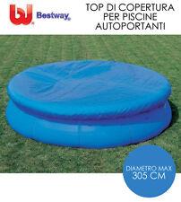 Telo copertura copri piscina rotonda easy set piscine ø 305 cm bestway 58033