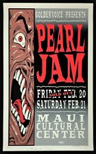 Pearl Jam Poster Silkscreen Printed Signed Jim Evans Rolo Taz Artist Proof A/P
