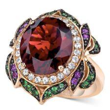 NEW!  Garnet, Multi-Stone & 14K Rose Gold Flower Ring By LeVian/ $3,800/ Size 10