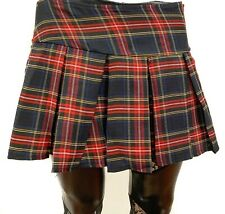 Plaid Blue Punk School Girl Tartan Pleated Lingerie Fetish Punk Skirt