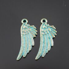 **39018 15Pcs Antique Bronze Alloy Bird Wings Charms Pendent Findings 30*11*2mm