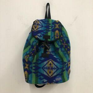 """Pendleton Native Print Wool Backpack Bag American """" Indian """" Blanket J1"""
