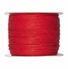 Paper Cord Internally Wired Red 2mm Wide x 100m Reel