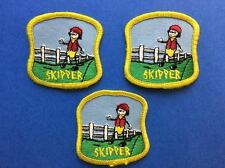 3 Lot Vintage Skipper Award Campfire Girls Girl Guides Brownies Badge Patch