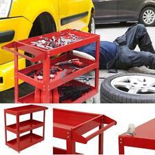 Durable Tool Trolley 3 Shelf Workshop Utility Tray Garage Equipment Wheel Cart