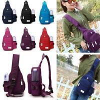 Sling Bag Chest Shoulder Backpack Crossbody Bags for Unisex Travel Outdoors QK