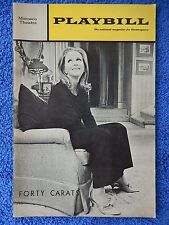 Forty Carats - Morosco Theatre Playbill - February 1969 - Julie Harris