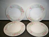4 MIKASA FINE CHINA ''FERN ROSE L2005 BREAD AND BUTTER  PLATES 6 3/8''