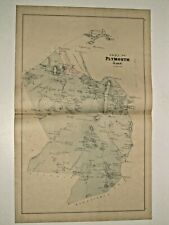 HANOVER & HANSON, MA., VINTAGE 1879 MAP., NOT A REPRINT.