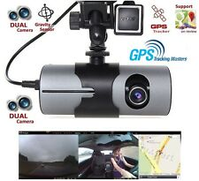 "2.7"" Dual Lens HD 1080P Car DVR Dash Camera Video Recorder Cam G-Sensor GPS"