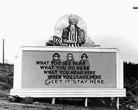 "BILLBOARD LOCATED IN ""THE ATOMIC CITY"", OAK RIDGE, TN 1943 - 8X10 PHOTO (NN-168)"