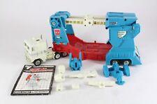 Transformers G1 Ultra Magnus Cab & remorque rare Roulettes caoutchouc sans peinture version