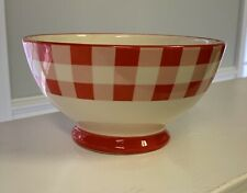 The Pioneer Woman Red and White Checked footed cereal bowl