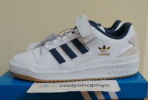 Adidas Forum 84 Low White Navy Gum size 8.5 Gold Mens Casual Sneakers GY2648