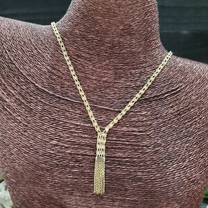 """HSN Michael Anthony 10k Yellow Gold Double Singapore Style Tassel 20"""" Necklace"""