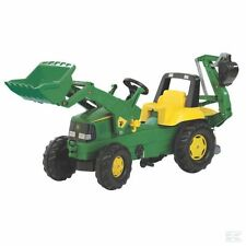 John Deere Childrens Pedal Tractor With Front Loader and Backhoe Kids Ride on