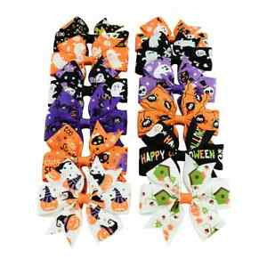 """HALLOWEEN 3"""" HAIR BOWS CLIP SPIDERS,SPOOKS,PUMPKIN,CATS, HALLOWEEN PARTY, CRAFT"""