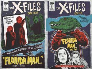 X-Files Case Files Florida Man Set Delilah Dawson JJ Lendl Variants 1 2 New NM