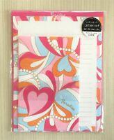 Letter Sheet Envelope Set Psychedelic Pink Heart Stationery Japanese