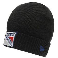 MENS GREY NEW ERA NY NEW YORK RANGERS NHL ICE HOCKEY BEANIE SKI WOOLLY HAT