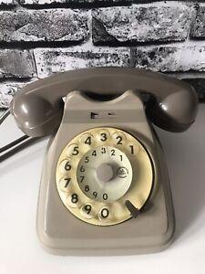 Telefono Fisso A Disco Siemens S62 Bigrigio Vintage Epoca Bachelite Collezione
