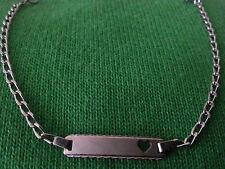 ID-Armband mit Herz in Silber 835/000 rhodiniert