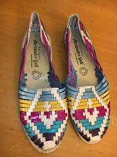WOMENS HUARACHE SANDALS SZ 7 US  LEATHER ALEXANDRO GOTI WOVEN Boho