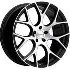 4 - 18x8 Machined Black Wheel Ravetti M8 5x112 40