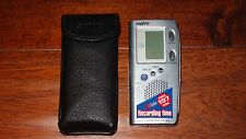 Sanyo ICR-B35 Handheld Digital Voice Recorder 8 MB 3 Hours W/ POUCH