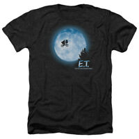 E.T. ET Extra Terrestrial Movie Bicycle MOON SCENE Heather T-Shirt All Sizes
