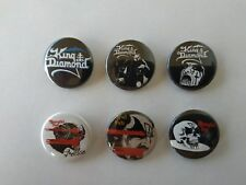 6 x King Diamond & Mercyful Fate buttons (badges, heavy metal, melissa, pins)