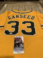 Jose Canseco Autographed/Signed Jersey JSA COA Oakland Athletics A's Bash Bros