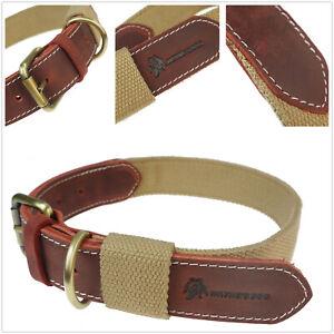 Vintage Cotton webbing Leather Hunting Dog Rop Lock Belt Adjustable