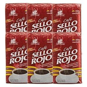6x Cafe Sello Rojo Espresso Ground Coffee 6 x 250 g Colombia