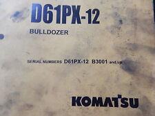 komatsu bulldozer parts book manual    D65PX-12 -B3001-UP
