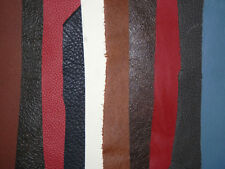 10 pcs Various Colored Leather Remnants / Scraps Various Thickness #5719