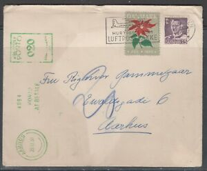 Denmark 1950. Domestic underpaid cover. Postage due. Tied christmas seal 1950.