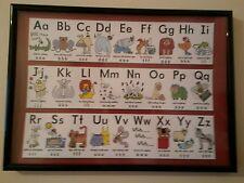 Alphabet Learning Framed Poster Kids A4 260gsm