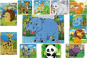 Wooden Animal Jigsaw Puzzle Toy For Toddler Children Educational Learning