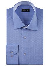 "Douglas ® Jacquard Formalen Hemd/Blau - 17"""