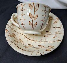 Mid Century Modern NORSK EGERSUND PORCELAIN TeaCup tea cup and Saucer