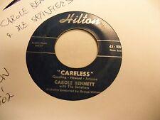Carole Bennett Careless/He's Coming Home 45 RPM Hilton Records VG [Soul Popcorn]