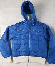 Womens Roxy blue ski Puffer hooded coat jacket Size 5 Large