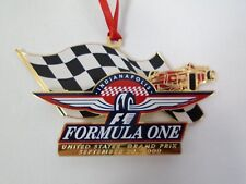 2000 Indianapolis Motor Speedway Christmas Brass Collector Ornament Formula One