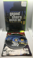 Grand Theft Auto III 3 - Case and Game Disc - Tested & Works - Original Xbox